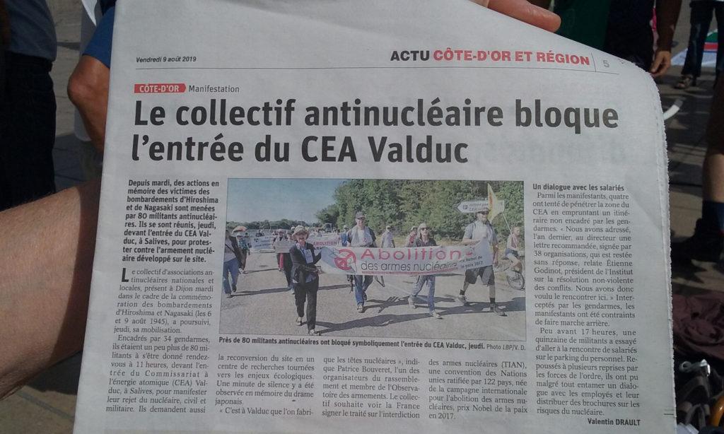 Blocage entrée du CEA Valduc